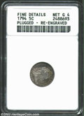 Early Half Dimes: , 1794 H10C --Plugged, Re-engraved--ANACS. Fine Details, Net ...