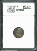 Early Half Dimes: , 1800 H10C --Plugged, Repaired, Cleaned--ANACS. VF Details, ...