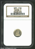 Seated Half Dimes: , 1838 H10C Large Stars MS64 NGC. A razor-sharp near-Gem ...