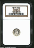 Seated Half Dimes: , 1847 H10C MS64 NGC. Essentially brilliant on each side ...