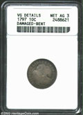 Early Dimes: , 1797 10C 13 Stars--Damaged, Bent--ANACS. VG Details, Net ...