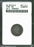 Early Dimes: , 1798 10C Large 8--Damaged--ANACS. VG Details, Net Good 4. ...