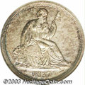 """Proof Seated Dimes: , 1837 10C No Stars PR61 NGC. Greer-102. This is truly """"a ..."""
