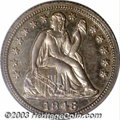 Proof Seated Dimes: , 1846 10C PR63 PCGS. The diagnostics for this rare early ...