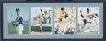 "Autographs:Others, Nolan Ryan Career Highlights Signed Large Photograph Display fromthe Sarabella Collection. Quartet of 11x14"" color photogr..."