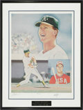 Baseball Collectibles:Others, Mark McGwire Signed Lithograph from the Sarabella Collection.Limited edition (441/1000) work offers a flawless black ink s...
