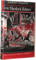 Books:First Editions, August Derleth: In Re: Sherlock Holmes. (Sauk City: Mycroft& Moran, 1945), first edition, 238 pages, black cloth with r...(Total: 1 Item)