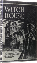 Books:First Editions, Evangeline Walton: Witch House. (Sauk City: Arkham House,1945), first edition, 200 pages, dust jacket by Ronald Clyne, ...