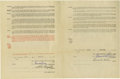 Autographs:Others, 1927 & 1931 St. Louis Cardinals Player Contracts Signed byBranch Rickey. Pair of Uniform Player's Contracts dates from a s...
