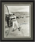 Autographs:Photos, Joe DiMaggio Signed Large Photograph from the Sarabella Collection.Another rarely seen image of the Yankee Clipper, expand...