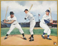 Autographs:Others, Mays, Mantle & Snider Signed Print from the SarabellaCollection. Depending on where he grew up in the New York Cityarea, ...