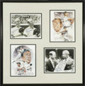 Autographs:Others, Joe DiMaggio & Mickey Mantle Multi-Signed Photographic Displayfrom the Sarabella Collection. The two greatest heroes of th...