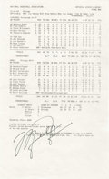 Basketball Collectibles:Others, 1993 Michael Jordan Signed 20,000th Career Point Scorer's Sheet. Onthe day that the man considered by many to be the great...