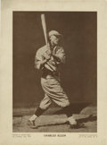 Autographs:Photos, Circa 1930 Chuck Klein Signed Magazine Photograph by Conlon.Stirring image of the Hall of Fame outfielder could only be th...