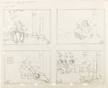 Animation Art:Production Drawing, Carl Barks - Snow White Gag Sequence Production Drawing Animation Art (Walt Disney, circa 1935-36). Most comics fans know Ca...