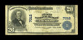 National Bank Notes:Pennsylvania, Edinboro, PA - $20 1902 Plain Back Fr. 650 The First NB Ch. # 7312. There were only 5 large examples in the census befor...