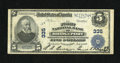 National Bank Notes:Connecticut, Bridgeport, CT - $5 1902 Plain Back Fr. 600 The First NB Ch. # 335. Darkly printed signatures of R.A. Beers and Edward S...