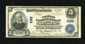 National Bank Notes:Pennsylvania, Reading, PA - $5 1902 Plain Back Fr. 598 The Farmers NB Ch. # 696. Pleasing stamped signatures are noticed on this color...