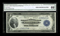 Fr. 738 $1 1918 Federal Reserve Bank Note CGA Gem Uncirculated 66. The embossing is more defined on the bottom serial nu...