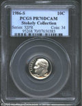 Proof Roosevelt Dimes: , 1986-S 10C PR70 Deep Cameo PCGS. The exceptionally ...