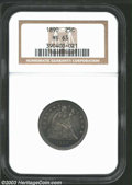 Seated Quarters: , 1890 25C MS63 NGC. A beautifully struck type coin that ...