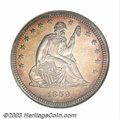 Proof Seated Quarters: , 1859 25C PR67 NGC. Briggs 1-A. The Mint began to use a ...