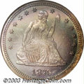 Proof Seated Quarters: , 1876 25C PR68 NGC. Briggs 8-H. The otherwise relatively ...
