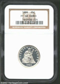 Proof Seated Quarters: , 1889 25C PR66 Cameo NGC. A spectacular Seated Liberty ...