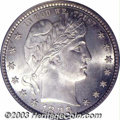 """Barber Quarters: , 1896-S 25C MS64 PCGS. The 1896-S is one of the """"Big Three""""..."""