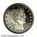 Proof Barber Quarters: , 1892 25C PR66 Deep Cameo PCGS. First year of issue and ...