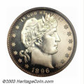 Proof Barber Quarters: , 1896 25C PR66 Cameo PCGS. The 1896 is perhaps our ...