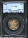 Proof Barber Quarters: , 1899 25C PR64 PCGS. A splendid needle-sharp example that ...