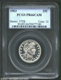 Proof Barber Quarters: , 1903 25C PR66 Cameo PCGS. There is not a single hint of ...