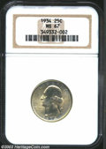 Washington Quarters: , 1934 25C MS67 NGC. Superb quality in an early Washington, ...
