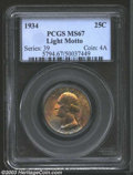 Washington Quarters: , 1934 25C Light Motto MS67 PCGS. Condition Census for this ...