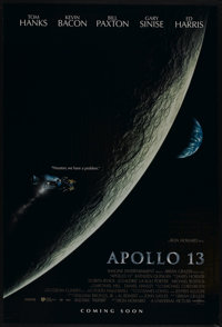 "Apollo 13 (Universal, 1995). One Sheet (27"" X 40"") DS Advance. Drama"