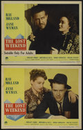 """Movie Posters:Drama, The Lost Weekend (Paramount, 1945). Lobby Cards (2) (11"""" X 14"""").Drama.... (Total: 2 Items)"""
