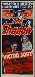 "Movie Posters:Crime, The Shadow (Columbia, 1940). Australian Daybill (13.5"" X 30"").Crime...."