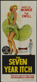 """Movie Posters:Comedy, The Seven Year Itch (20th Century Fox, 1955). Australian Daybill(13"""" X 30""""). Comedy...."""