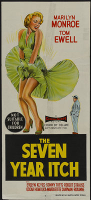 "The Seven Year Itch (20th Century Fox, 1955). Australian Daybill (13"" X 30""). Comedy"