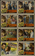"Movie Posters:Romance, Tycoon (RKO, 1947). Lobby Card Set of 8 (11"" X 14""). Romance....(Total: 8 Items)"