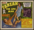 "Movie Posters:Adventure, Tarzan the Ape Man (MGM, R-1954). Title Lobby Card (11"" X 14"") andStills (5) (8"" X 10""). Adventure.... (Total: 6 Items)"