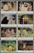 "Movie Posters:Animated, Snow White and the Seven Dwarfs (Buena Vista, R-1967). Lobby CardSet of 8 (11"" X 14""). Animated.... (Total: 8 Items)"