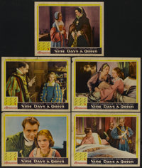 "Nine Days A Queen (Gaumont, 1936). Lobby Cards (5) (11"" X 14""). Drama.... (Total: 5 Items)"