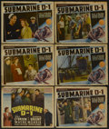 "Movie Posters:War, Submarine D-1 (Warner Brothers, 1937). Other Company Title Card andLobby Card (5) (11"" X 14""). War.... (Total: 6 Items)"