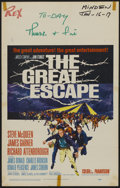 "Movie Posters:War, The Great Escape (United Artists, 1963). Window Card (14"" X 22"").War...."