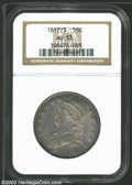 Bust Half Dollars: , 1817/3 50C AU53 NGC. O-101a, R.2. The peripheries and ...