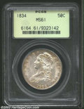 Bust Half Dollars: , 1834 50C Small Date, Small Letters MS61 PCGS. O-111, R.1. ...