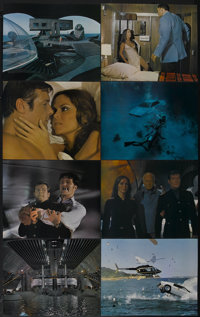 """The Spy Who Loved Me (United Artists, 1977). British Jumbo Deluxe Lobby Card Set of 12 (16"""" X 20""""). James Bond..."""