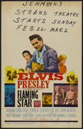 "Movie Posters:Elvis Presley, Flaming Star (20th Century Fox, 1960). Window Card (14"" X 22"").Elvis Presley...."